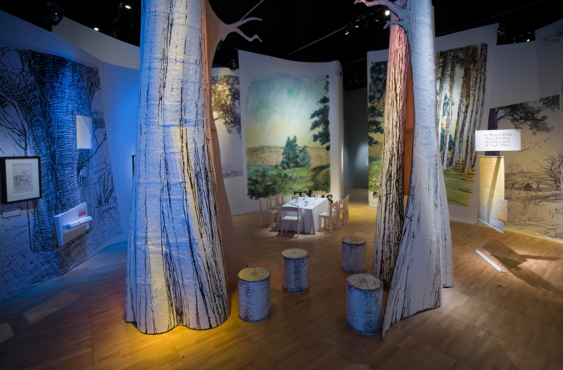 D Exhibition London : Insights into how winnie the pooh was made and illustrated