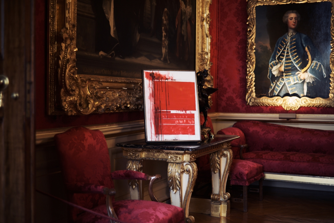 ENCLOSURE , 2017. U.S. government document SOFTER: Jenny Holzer at Blenheim Palace , Blenheim Palace, Woodstock, UK, 2017 © 2017 Jenny Holzer, member Artists Rights Society (ARS), NY Photo: Edd Horder