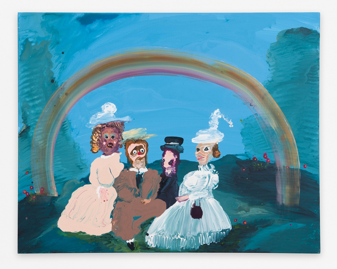 Genieve FIGGIS, TBT (Rainbow), 2018 Acrylic on canvas 31 3/8 x 39 1/4 inches 79,7 x 99,7 cm