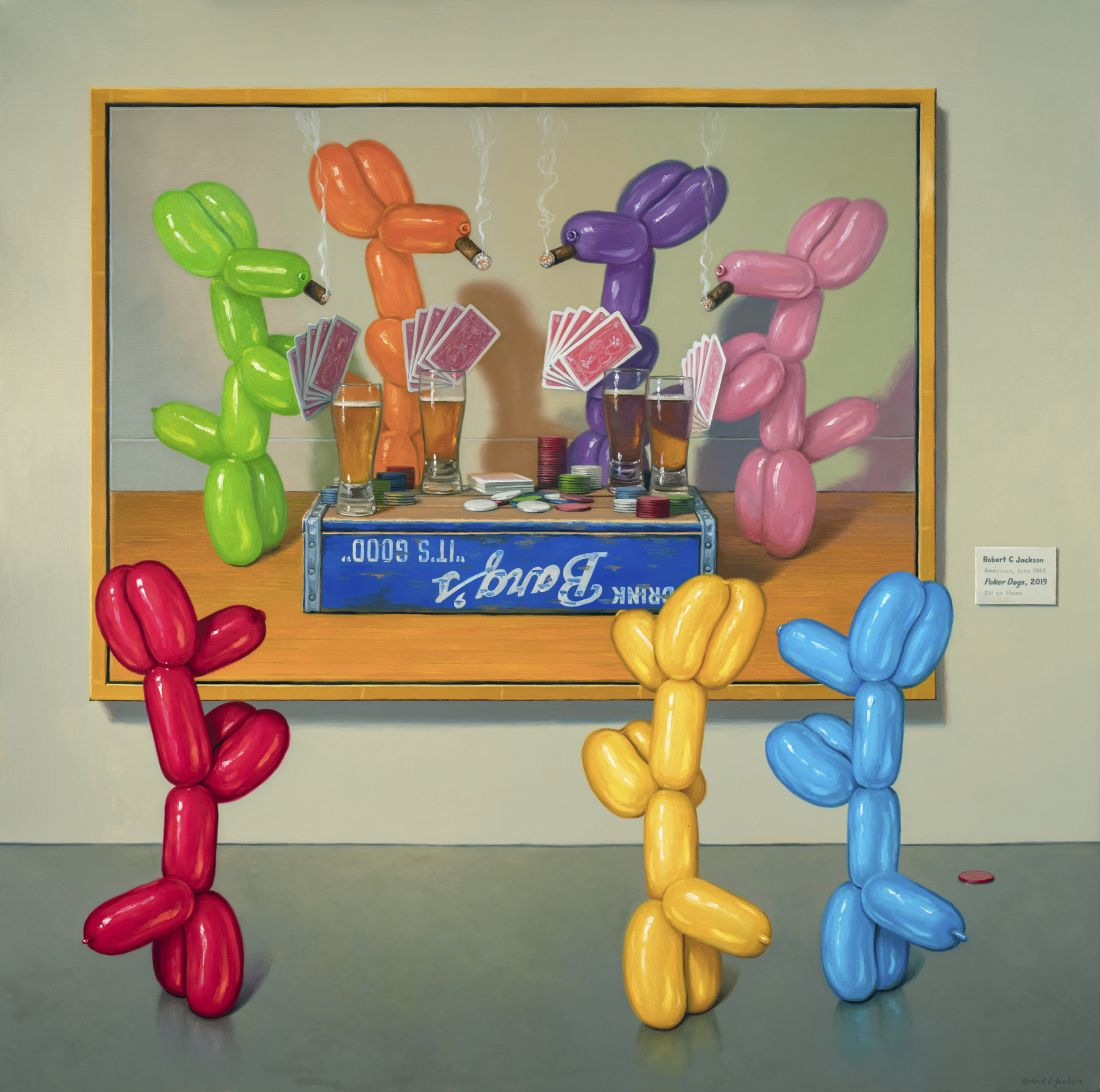 Balloon dogs that spring to life and colourful crates: The unique still life paintings of Robert C. Jackson