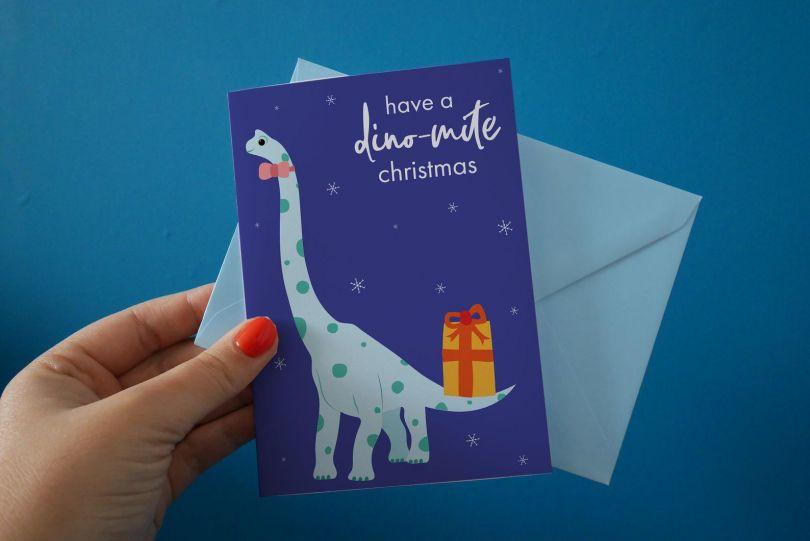 Dinosaur Christmas Cards by Caitlin Draws Things