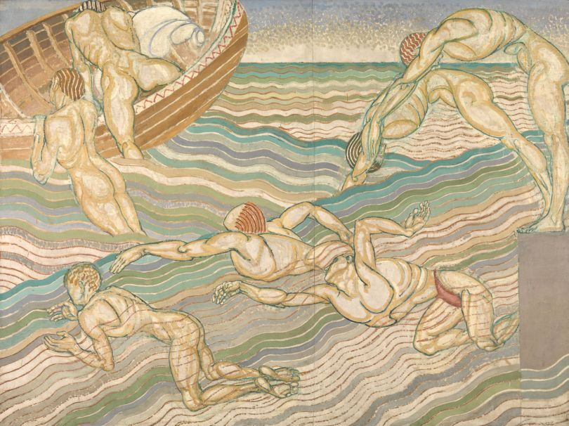 Duncan Grant  Bathing 1911  Oil paint on canvas  2286 x 3061 mm  © Tate