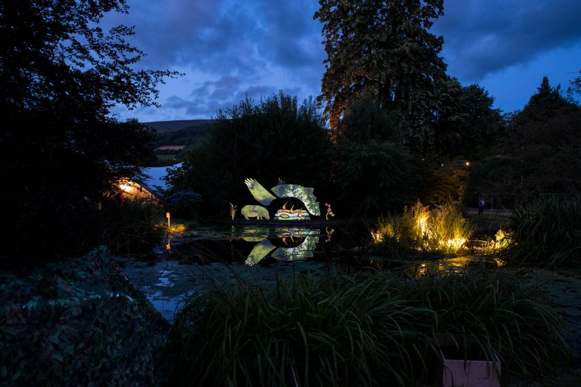 Art installation at Green Man, 2019