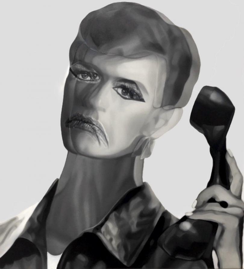 Bowie II, Oil on canvas, 90x83cm © Teiji Hayama