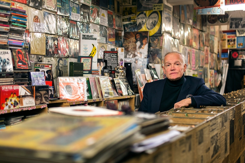 Tim Derbyshire – On The Beat record shop, Tottenham Court Road, London