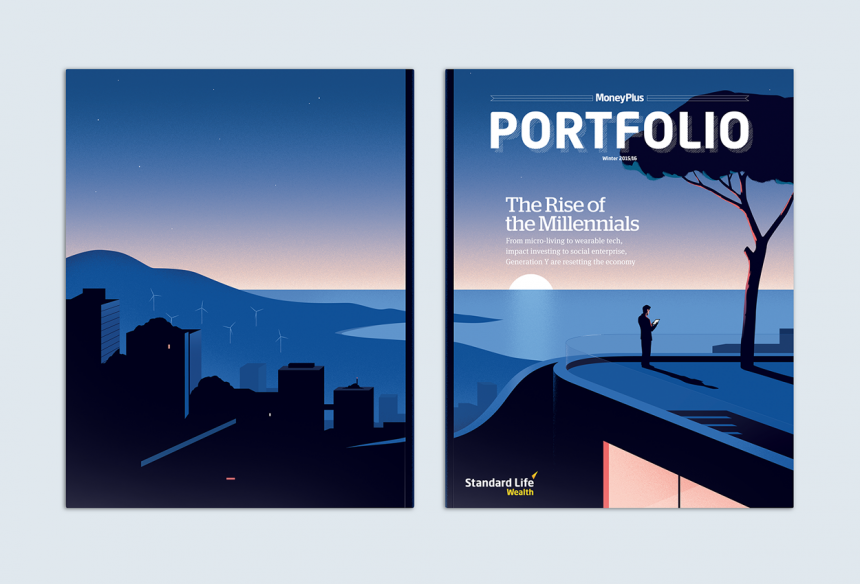 Millennials – Cover illustration for Portfolio magazine