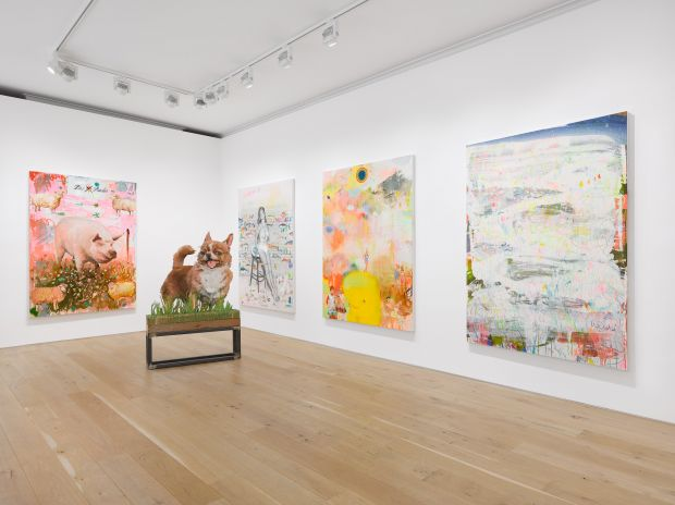 Installation view, Tursic & Mille: Strange Days, Galerie Max Hetzler, London, 22 June - 7 August 2021 © Tursic & Mille. Courtesy the artists and Galerie Max Hetzler Berlin | Paris | London. Photo: Jack Hems