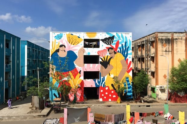 Bloom for St+Art India for Kannagi Art District in Chennai, India