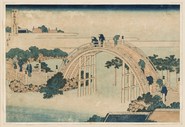 Katsushika Hokusai (1760–1849) The Drum Bridge at Kameido Tenjin Shrine c. 1827–1834