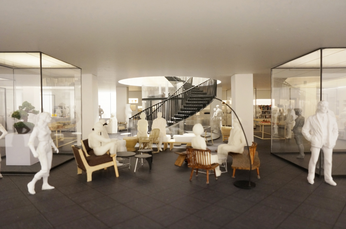 Cultural retail floor at Japan House London blurring the lines between a gallery and a shop