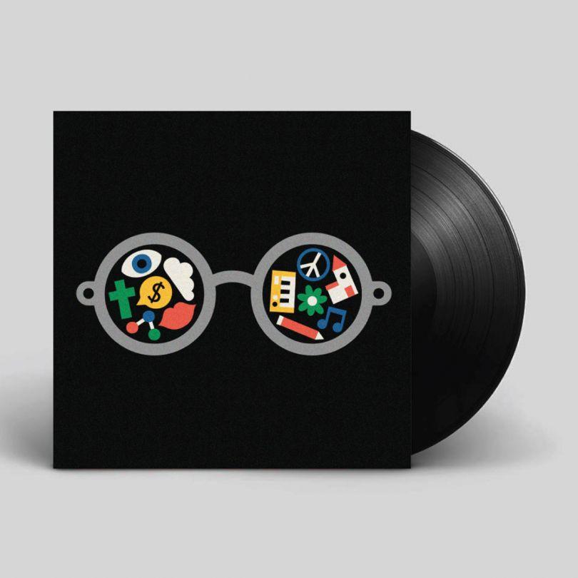 John Lennon – Imagine. Record sleeve artwork for the Secret7 charity exhibition