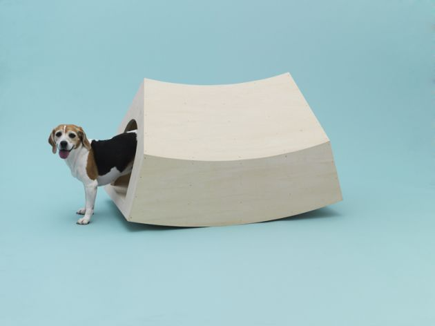 Beagle House Interactive Dog House by MVRDV for Beagle. Photo: Hiroshi Yoda.