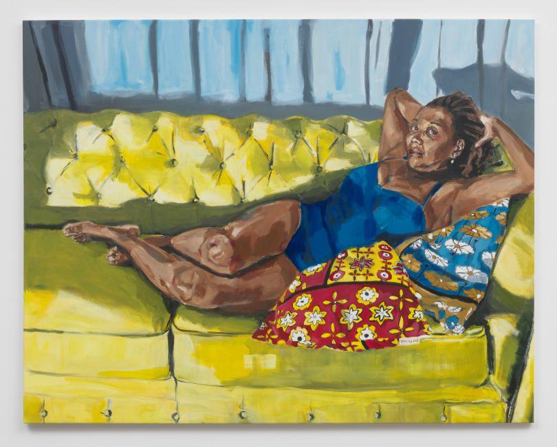 Wangari Mathenge Sundials and Sonnets, 2019 Oil on canvas 54 x 68 in (137.2 x 172.7 cm)