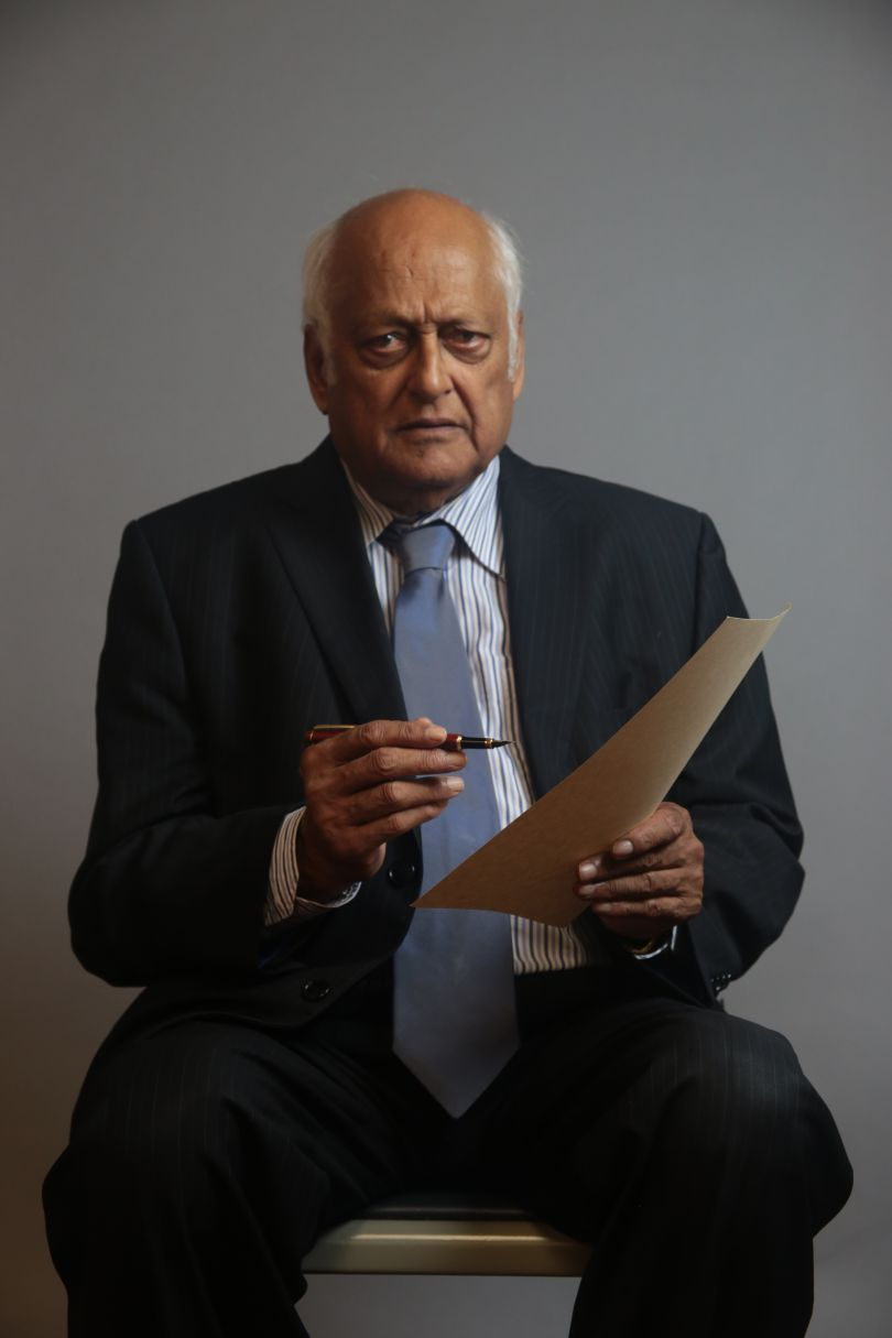 """Ray Singh Swansea, 2018 Scarlett Crawford, 2018.  """"Ray Singh was the first BAME District Judge appointed in Wales. He has worked in race relations for over 30 years. By holding the parchment and paper he wanted to convey that whilst the Race Relations Acts were necessary, there is still a lot more work to be done.""""  © UK Parliament"""