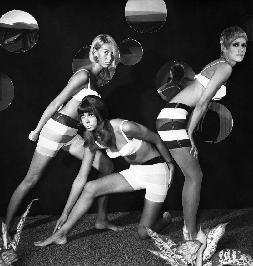 Three models wearing underwear designed by Mary Quant, c. 1966 © Otfried Schmidt/ullstein bild/Getty Images