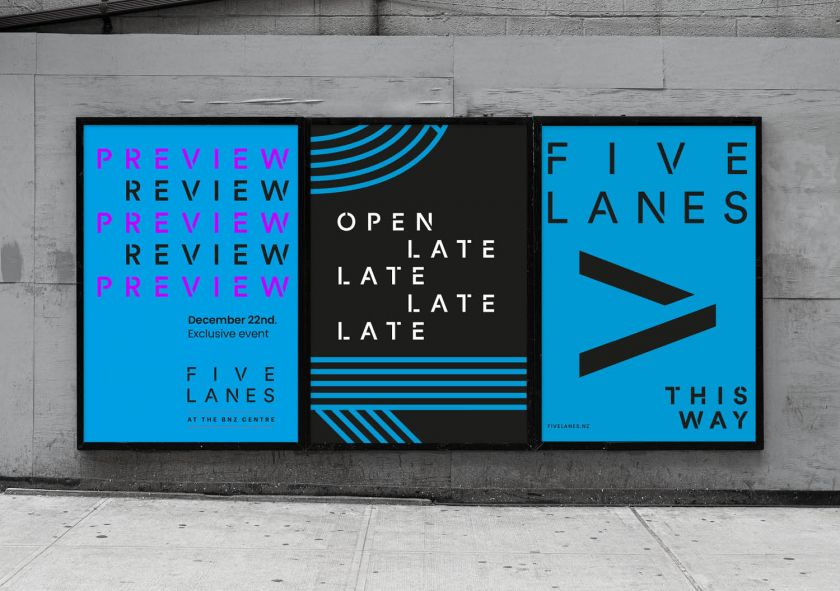 Strategy's new identity for a Christchurch shopping precinct is inspired by Five Lanes