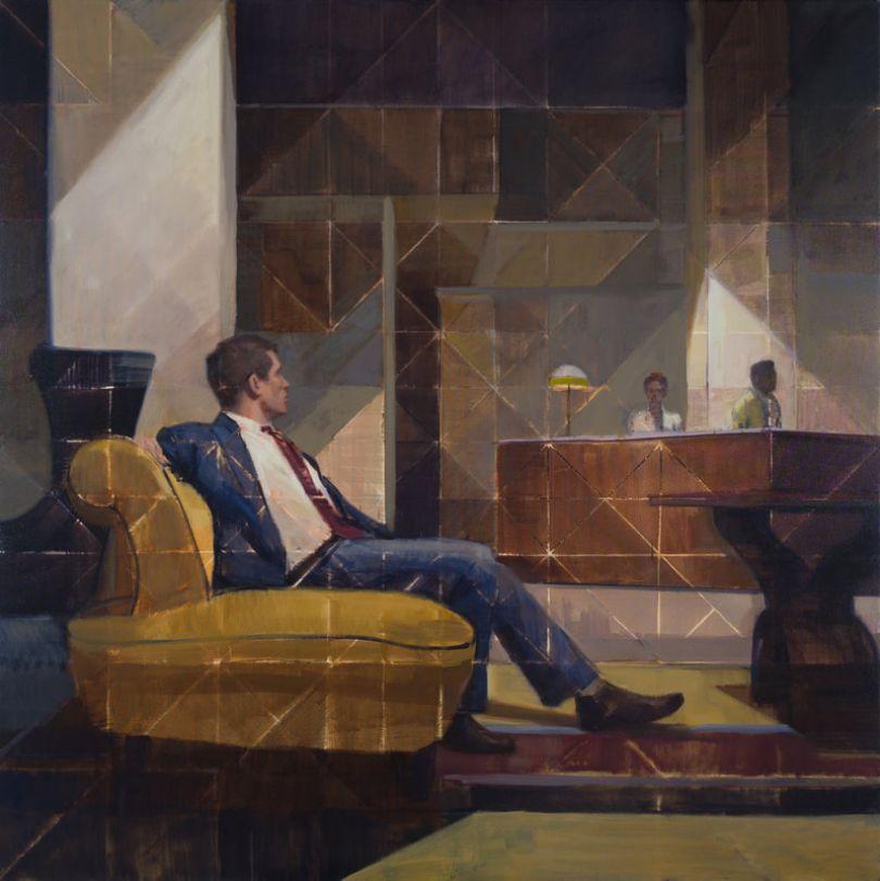 Lobby, Oil on Canvas 48
