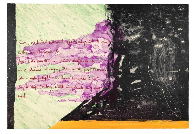 Robert Perkins, Basil Bunting, Fragment, 1980 © Robert Perkins. Courtesy the Artist and Benjamin Spademan Rare Books. Photo by Louie Fasciolo
