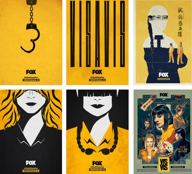 Vis a Vis Season 3 Posters Campaign by Fox Networks Group Spain. Winner in the Graphics and Visual Communication Design Category, 2018-2019.