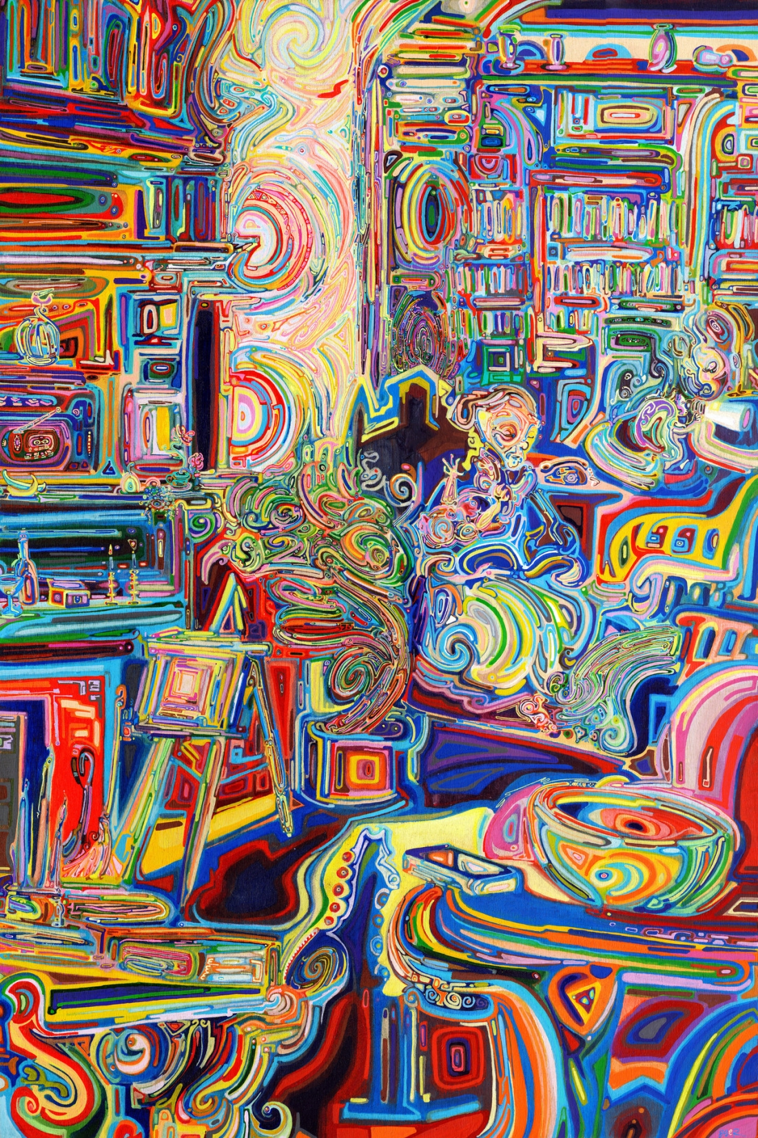 Faux Fauvism: Artist invents new technique to create a kaleidoscope of colourful paintings