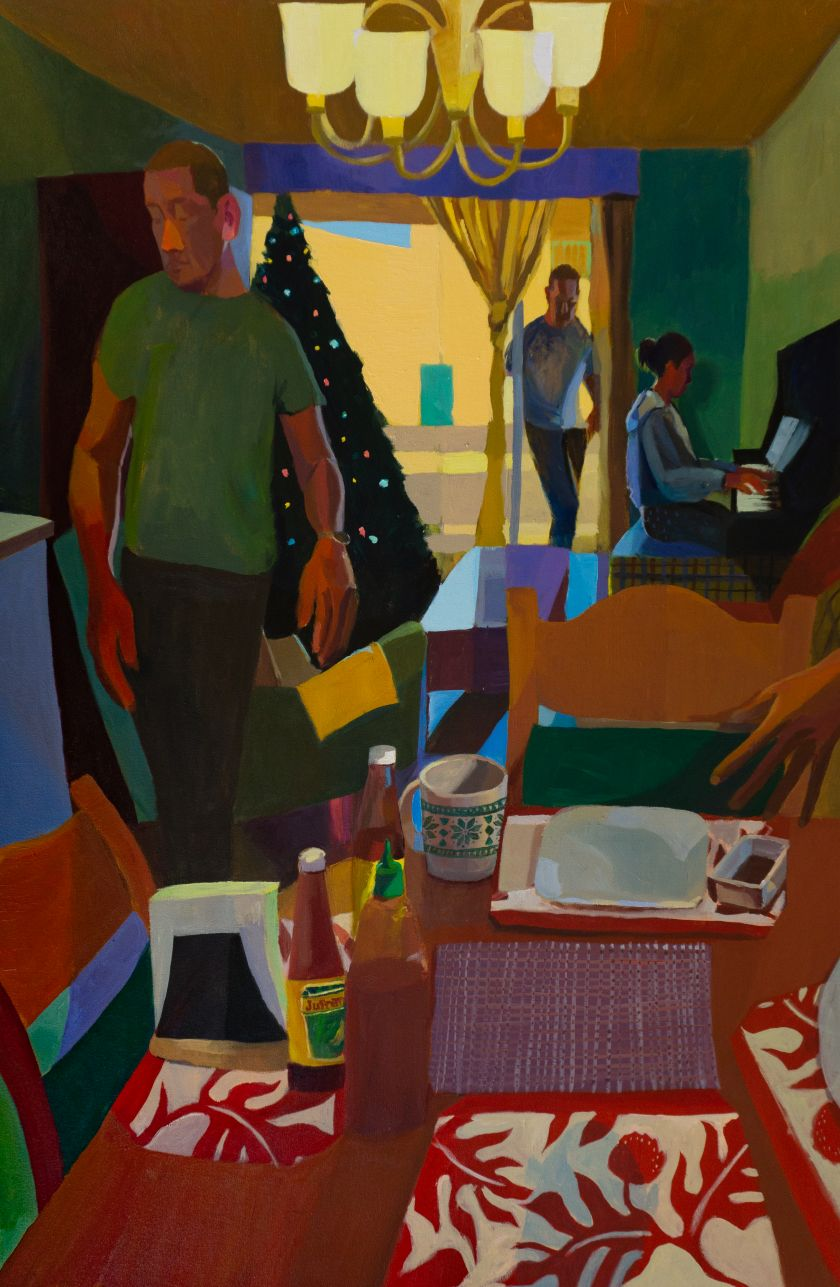 Mikey Yates, Christmas in California (Auntie Nen's Apartment), 2021, courtesy of the artist and Taymour Grahne