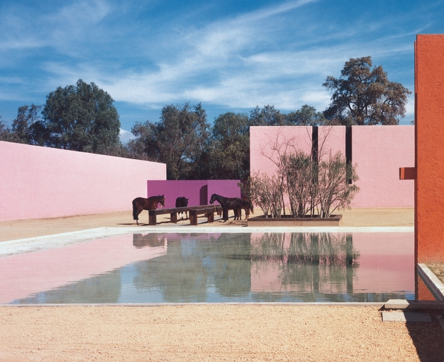 San Cristóbal Stables, Mexico City, Mexico, 1968, Luis Barragán. Picture credit: © 2011 Barragan Foundation, Birsfelden, Switzerland / ProLitteris / DACS. Photograph by Armando Salas Portugal