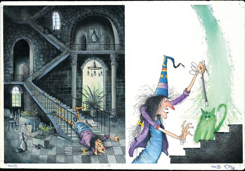 Winnie Turns Wilbur Green, Winnie and Wilbur illustration (c) Korky Paul