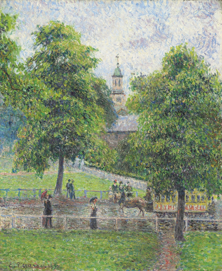 Camille Pissarro (1830 – 1903) Saint Anne's Church at Kew, London 1892 Oil paint on canvas 548 x 460 mm Private collection