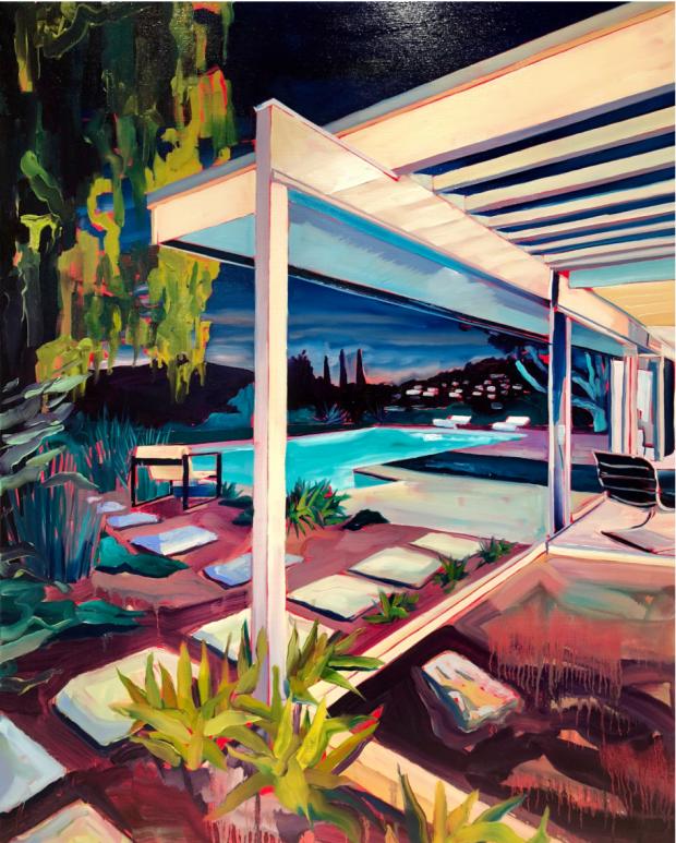 Asparagus House (2018), Rex Southwick, Oil on Canvas, 89 x 100cm
