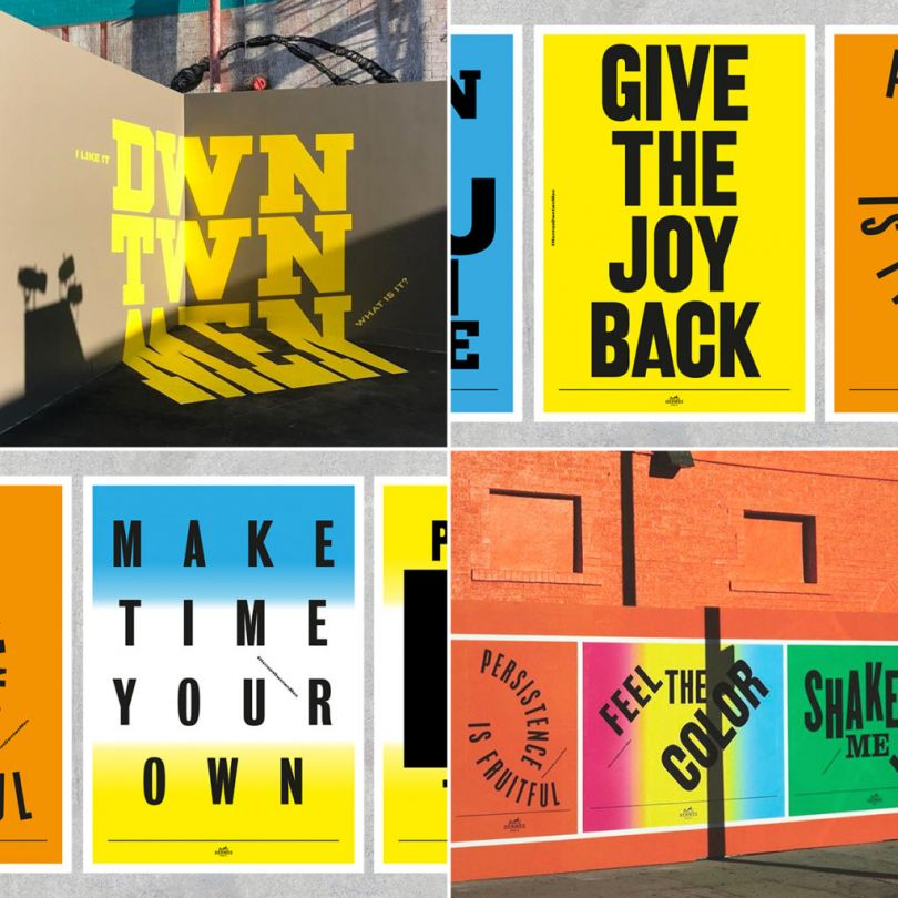 Wall paintings, screen-print posters and animations for Hermès men's collection launch in LA