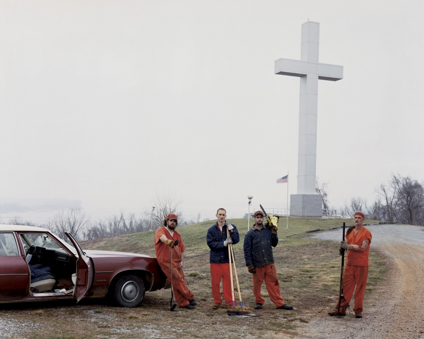 Fort Jefferson Memorial Cross, 2002 © Alec Soth / Magnum Photos courtesy Sean Kelly Gallery, New York and Beetles + Huxley Gallery, London