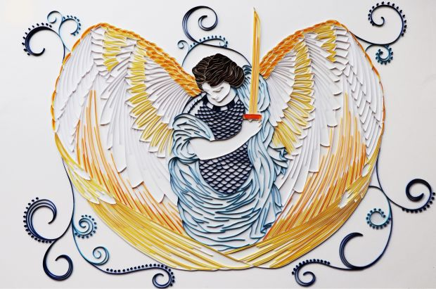Archangel Michael by Niamh Faherty. A' Design Award Winner in the Arts, Crafts and Ready-Made Design Category, 2019-2020.