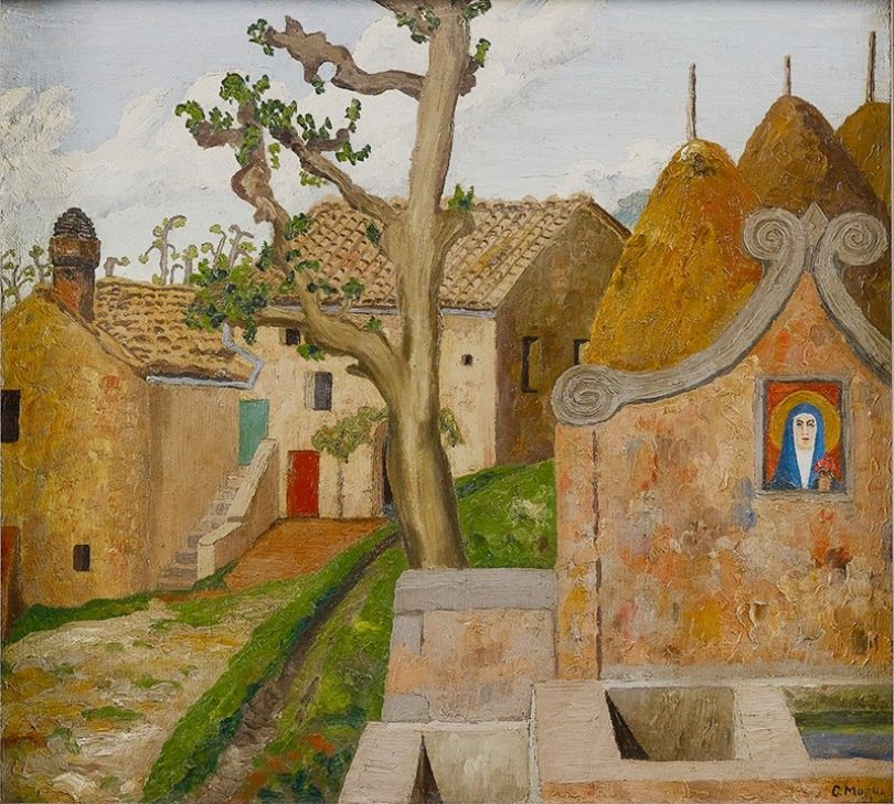 Italian Hill Town 1922, Northern Italy 211⁄2 x 231⁄2 in (55 x 60 cm) Oil on canvas ©Philip Mould & Company Previously in the collection of David Bowie.