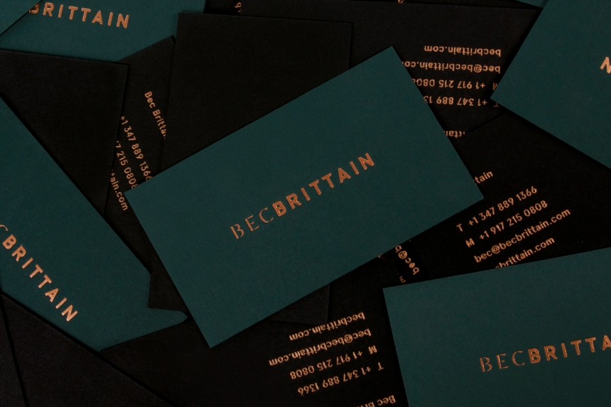 described on lotta nieminens portfolio branding and catalogue design for bec brittain a new york based lighting and product designer driven by luxurious - Amazing Business Cards