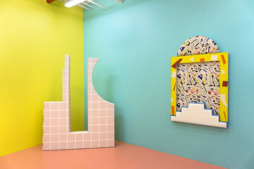 Installation view of Leah Guadagnoli: I Just Want to See You Underwater on view at VICTORI + MO June 8- July 22, 2018. Courtesy of the artist and VICTORI + MO