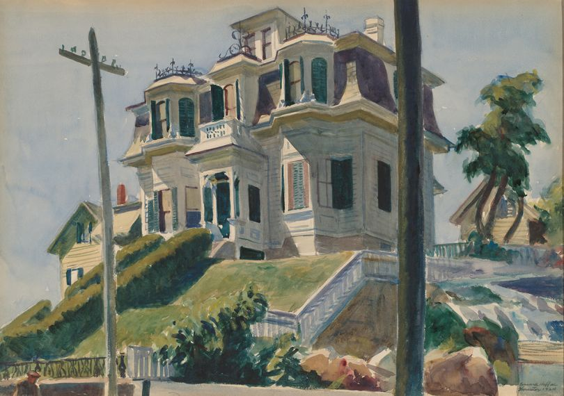 Haskell's House, 1924. Edward Hopper, American, 1882-1967. Watercolor over graphite on paperboard, 13 1/2 × 19 1/2 inches. National Gallery of Art, Gift of Herbert A. Goldstone, 1996.