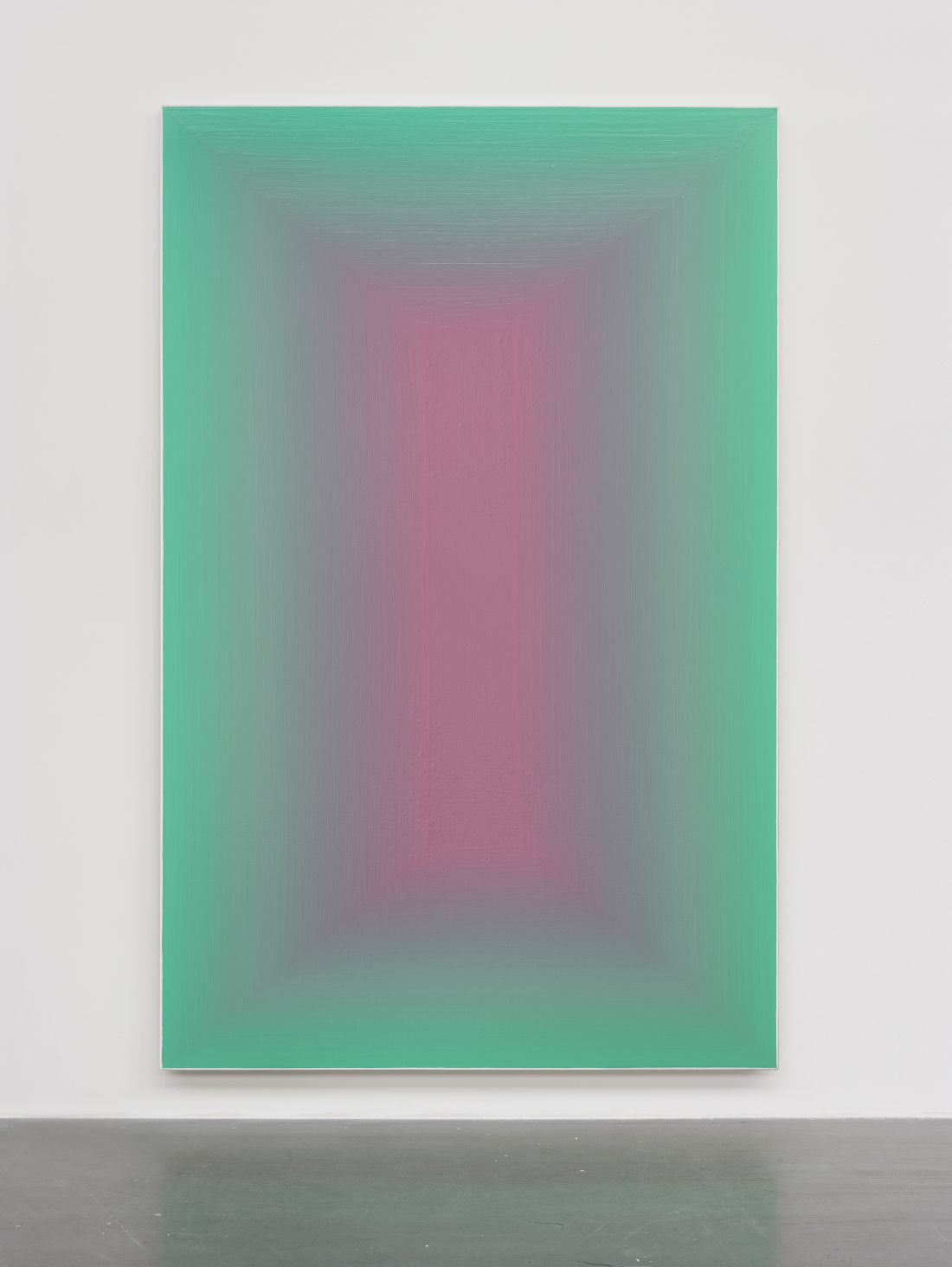 Duo Color Wang Guangle S Meditative Paintings That Draw Upon