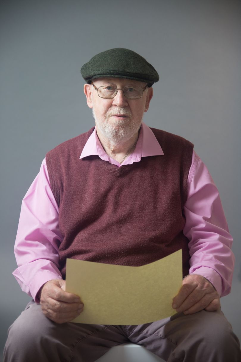 """Richard Lucas Thamesmead, 2018 Scarlett Crawford, 2018. """"Richard used the parchment to show that the legislation has been too little and too late. Wearing his hat represents the contribution that the Irish working class has made to UK society. He was proud of his community and his contribution as a local councillor."""" © UK Parliament"""