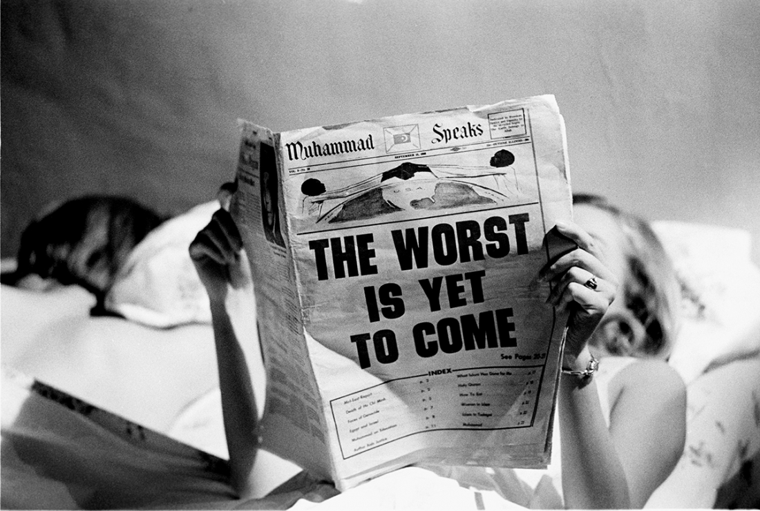 The Worst is Yet to Come, New York, 1966. © Steve Schapiro, courtesy Howard Greenberg Gallery, New York