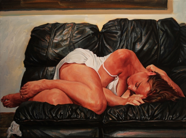 Black Couch - Oil on canvas, 2014