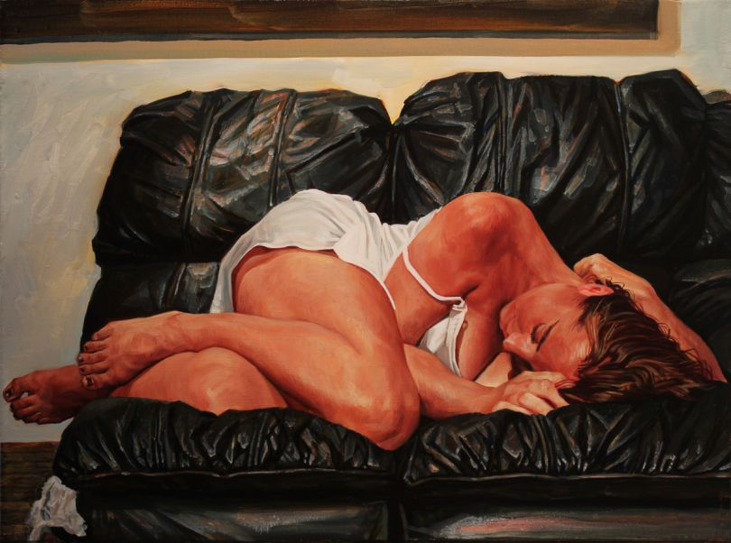 Black Couch - Oil on canvas, 2014. All images via submission.