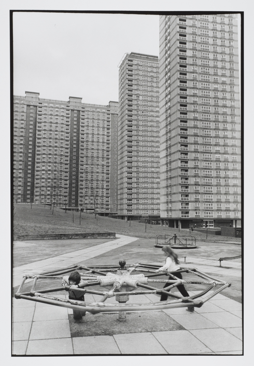 Larry Herman, Red Road Flats; Glasgow, 1974-76 (printed 2015) Silver gelatine print, 42.60 x 29.70 cm © Larry Herman Collection: National Galleries of Scotland