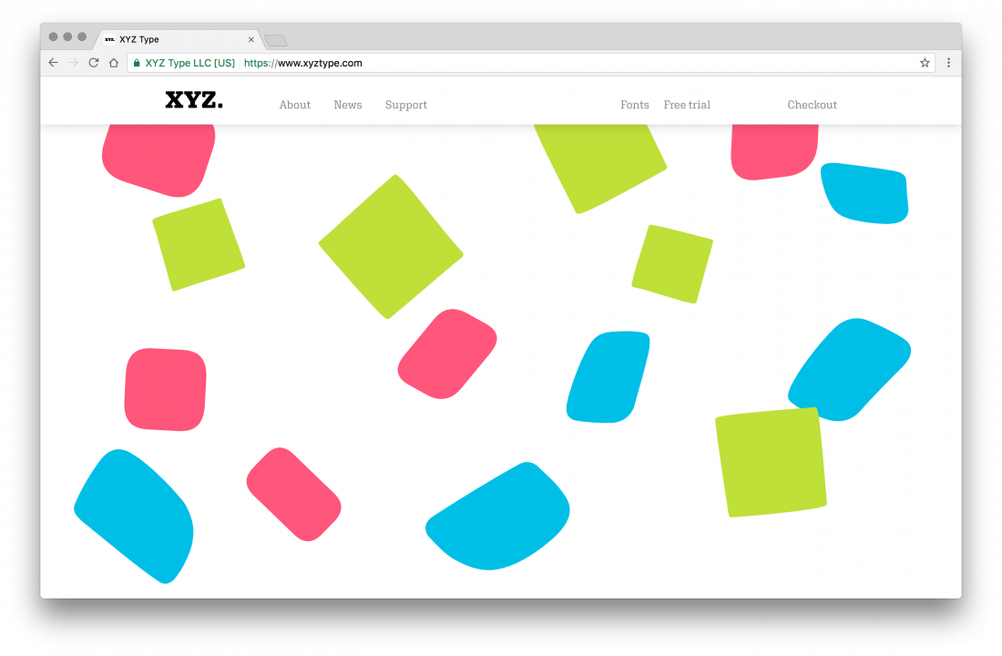 XYZ Type, a new type foundry with a playful website