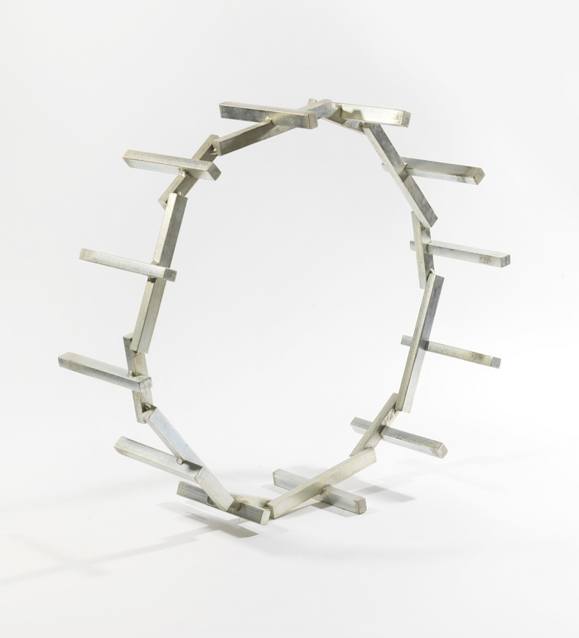 Circular Steel Sculpture No.1, 1974, Mild steel & zinc coated steel, Unique, 185 x 279 x 1432 cm