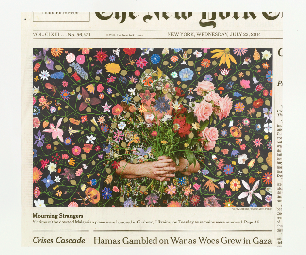 Fred Tomaselli Wednesday, July 23, 2014 2016 © Fred Tomaselli. Photo © White Cube (Max Yawney)