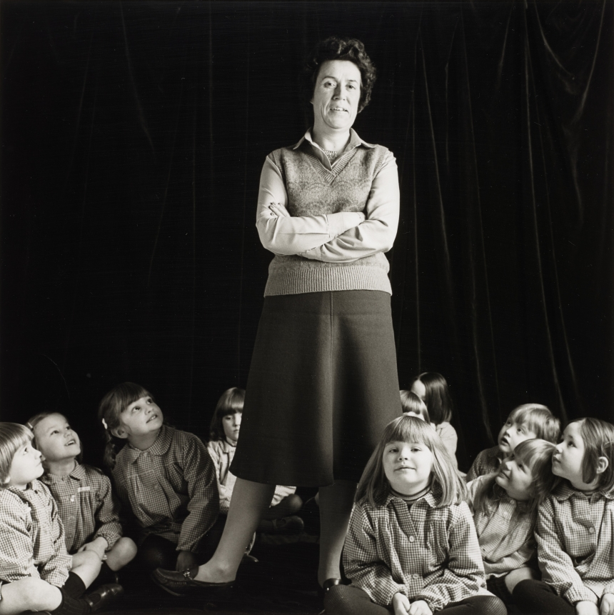 David Williams, 'Primary School Teacher' from 'Pictures from No Man's Land', 1984 Silver gelatine print, 35.60 x 35.60 cm © David Williams Collection: National Galleries of Scotland