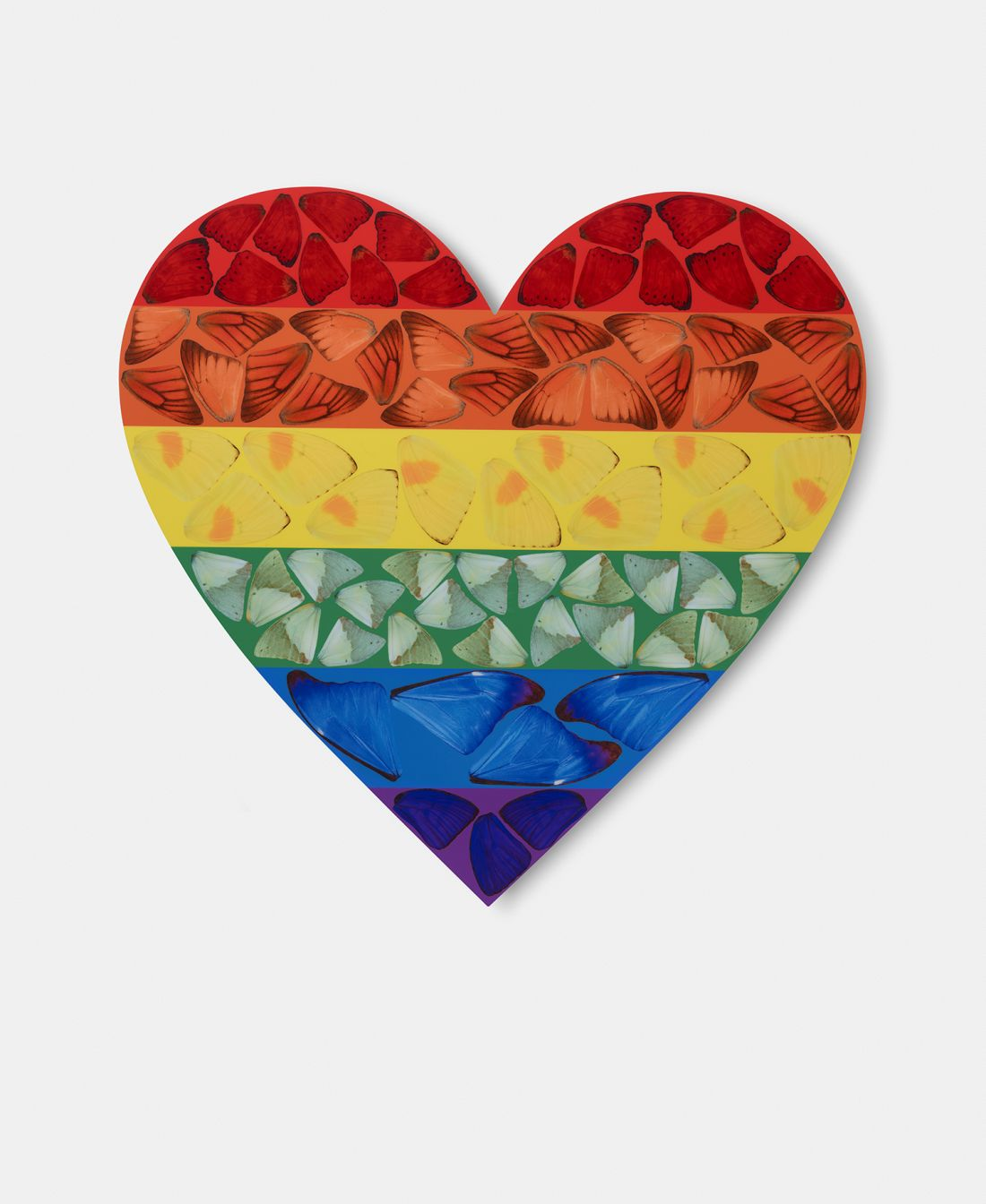Damien Hirst Releases Rainbow Prints For Charity Featuring Coloured Butterfly Wings Creative Boom