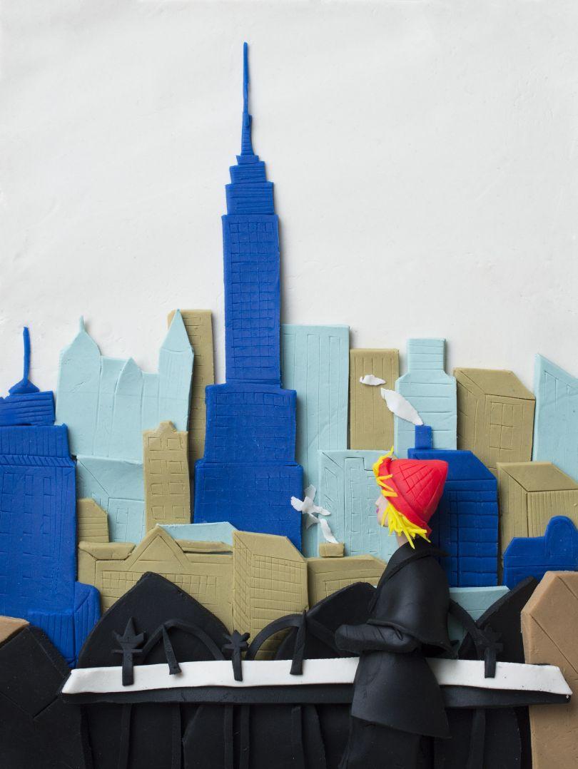 Original photograph: [Empire State Building, New York City, 1955](http://pro.magnumphotos.com/C.aspx?VP3=SearchResult&VBID=2K1HZO6BUU25BW&SMLS=1&RW=1197&RH=579) by Elliott Erwitt rendered in Play-Doh by Eleanor Macnair  © Eleanor Macnair