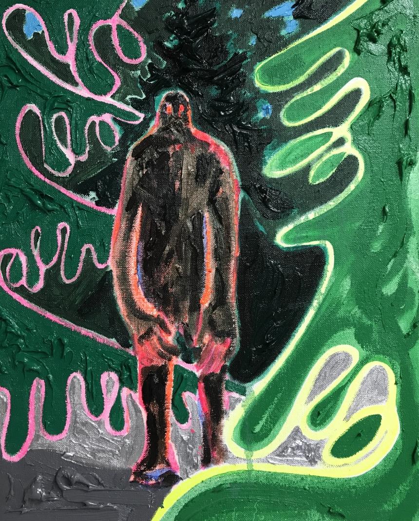 Kim Dorland, 'Self Portrait' (2017), Oil and Pastel on Linen, 20x16in