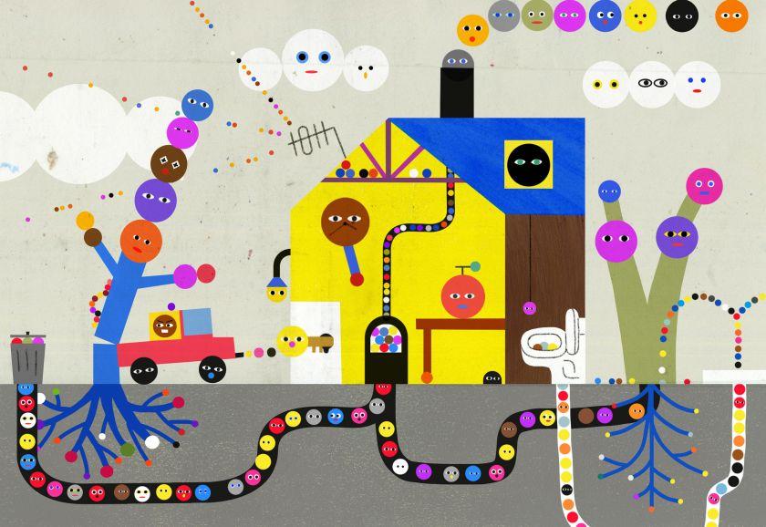 Illustrator Jam Dong's beautifully textured images capture life's eureka moments